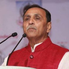 Vijay Rupani sworn in as Gujarat chief minister, Nitin Patel as his deputy