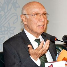 Pakistan is reaching out to Indians against New Delhi's Kashmir policies, says Sartaj Aziz