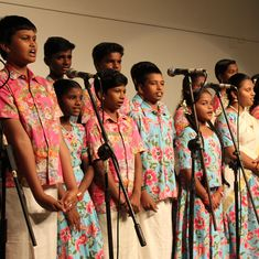 A children's choir taps into genius of AR Rahman and Ilaiyaraaja to create world-class music