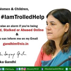 'Modi government can be sued': Hurt trolls attack Maneka Gandhi for her plans to check online abuse