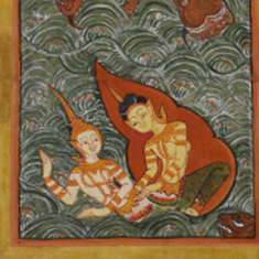 In Thai illustrations of Buddha's birth, women play a big role