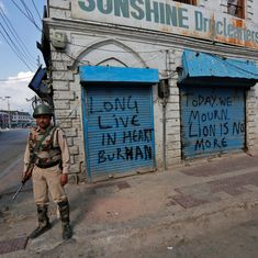 India says Pakistan's 'terror support' must be condemned after its officials praise Burhan Wani