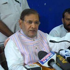 Sharad Yadav says he will present his faction as the 'real' Janata Dal (United)