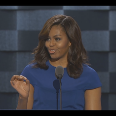 Watch Michelle Obama's speech supporting Clinton, which made people ask why she's not running