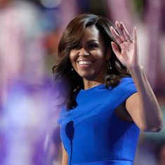 'She has never quit on anything in her life': First Lady Michelle Obama endorses Hillary Clinton