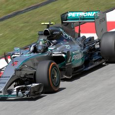 German GP: Nico Rosberg in pole position ahead of Lewis Hamilton as their rivalry continues