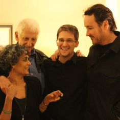Not quite selfies: When John Cusack got Arundhati Roy, Edward Snowden and Daniel Ellsberg together