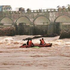 Mahad bridge collapse: Search and rescue teams find 17 bodies in Savitri river