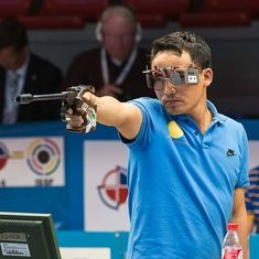 Manjit stuns Jitu Rai to clinch gold in the Men's 50m Pistol event at Shooting Nationals