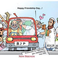 'Attack me, shoot me': Political cartoonists decode Narendra Modi's angry messages to gau rakshaks