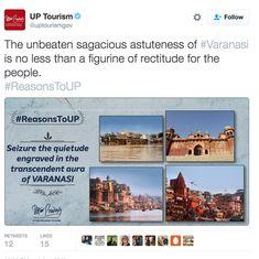 'Sagacious astuteness of Varanasi': UP tourism's Twitter account is hilariously overwrought