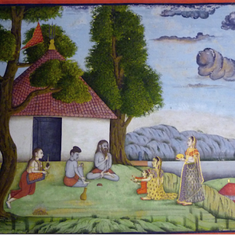 How ascetics and yogis were depicted in Indian paintings from the Mughal era