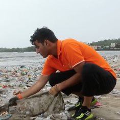 Watch: It's Mumbai citizens versus a massive amount of garbage on Versova beach