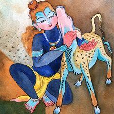On Janmashtami, social media is full of praise for this artist's paintings of Krishna