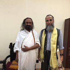 Sri Sri Ravishankar meets Burhan Wani's father Muzaffar at Bengaluru ashram