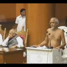 Watch: Jain monk Tarun Sagar addresses  Haryana Assembly in the nude, offers  sociopolitical tips