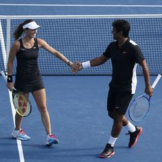 Australian Open: Leander Paes and Martina Hingis progress to quarter-finals of mixed doubles