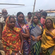 These women in a Bihar flood relief camp aren't getting any food – because of the taunts of men