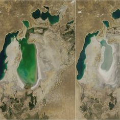 Watch: This timelapse video by NASA captures the horrifying shrinking of the Aral Sea