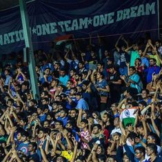 Here are 6,984 additional reasons the Indian football team beat Puerto Rico 4-1 at Mumbai