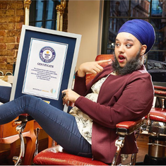 Sikh activist enters Guinness World Records for being the 'youngest female with full beard'