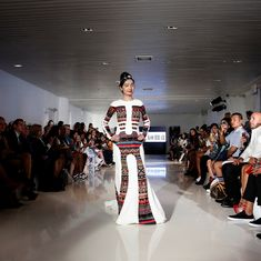 Photos: Indian acid attack survivor Reshma Qureshi walks the ramp at New York Fashion Week