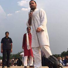 मोदी किसानों के साथ सेल्फी नहीं लेते क्योंकि उनका 15 लाख का सूट गंदा हो जाएगा : राहुल गांधी