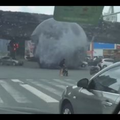 Watch: When a giant 'moon' terrorised the inhabitants of a Chinese city