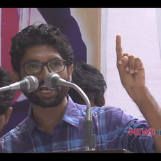 'Let your Hindutva agenda go to hell': Watch the speech Jignesh Mevani gave before he was detained