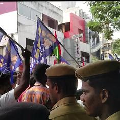 Murder or suicide? Chaotic scenes outside Chennai morgue where Ramkumar's body lies