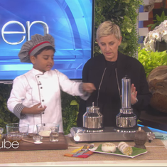 This six-year-old from Kerala showed Ellen DeGeneres how to cook puttu