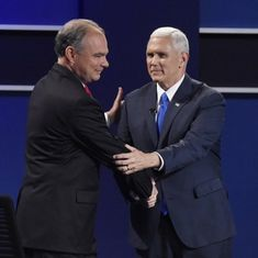 US vice-presidential debate: Candidates Tim Kaine, Mike Pence clash over immigration, Islamic State
