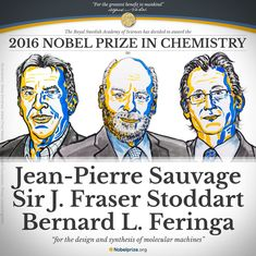 Nobel Prize in Chemistry awarded to Jean-Pierre Sauvage, Sir Fraser Stoddart and Bernard Feringa