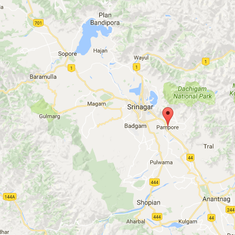 Kashmir: Three Indian soldiers killed as militants attack Army convoy in Pampore