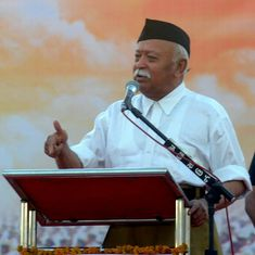 Watch: After RSS chief's speech, Hindu religious leaders demand date for construction of Ram temple