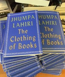 Jhumpa Lahiri is back already. With a volume on the art of the book jacket