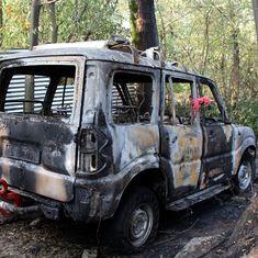Kashmir: Masked youths ransack bank in Srinagar, torch SUV on National Highway