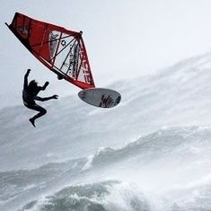 Watch:  Fearless windsurfers battle a hurricane to perform stunts (while normal people run away)