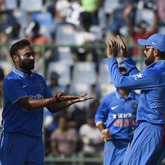 New Zealand 79 all out. India ride on Amit Mishra's fiver to seal 3-2 series win
