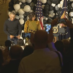 Watch Barack and Michelle Obama dance to Michael Jackson (and wonder why they have to leave)