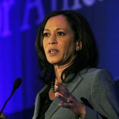 Indian-American senator-elect Kamala Harris pledges to fight Donald Trump's immigration policies