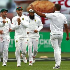 The score: Australia 85 all out on a remarkable day where 15 wickets fell in Hobart