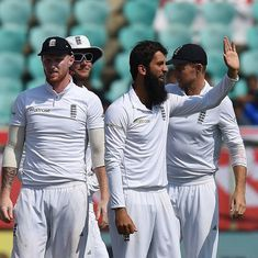Moeen Ali digs into India's middle order, before R Ashwin and Jayant Yadav take score past 400