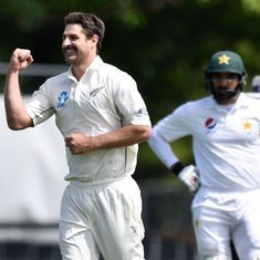 Watch: New Zealand's Colin de Grandhomme rips through Pakistan with a six-wicket haul on Test debut