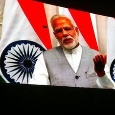 Watch: Narendra Modi beams himself into Coldplay concert (and jokes about demonetisation)