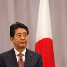 Three missiles North Korea test-fired landed in Japan's waters, says Shinzo Abe