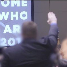 'Hail Trump!': Watch Nazi-style salutes to celebrate  the President-elect's victory