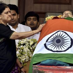 Tamil Nadu: Jayalalithaa buried next to her mentor MGR in Chennai