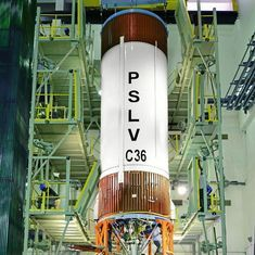 Isro launches PSLV C36 remote sensing satellite