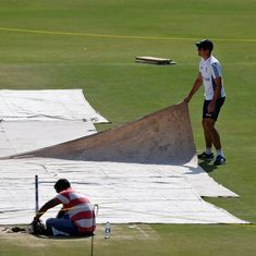 Groundstaff use burning coal to dry pitch at Chepauk ahead of fifth Test